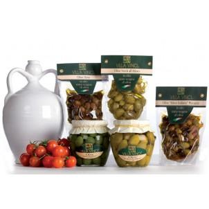 OLIVE in olio extravergine di oliva e in Salamoia